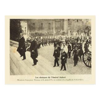 Primera Guerra Mundial, Francia, entierro, almiran Postal