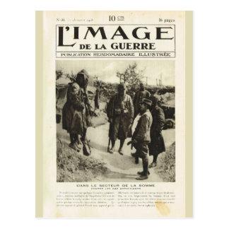 Primera Guerra Mundial, soldados en el Somme Postal