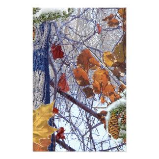 Primera impresión del camuflaje del invierno de la folleto 14 x 21,6 cm