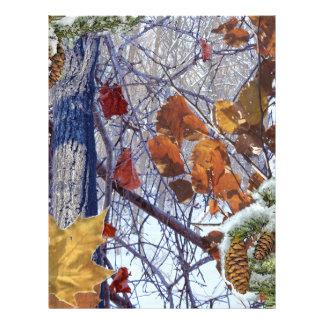 Primera impresión del camuflaje del invierno de la folleto 21,6 x 28 cm