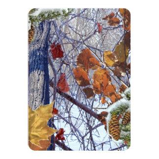 Primera impresión del camuflaje del invierno de la invitación 11,4 x 15,8 cm