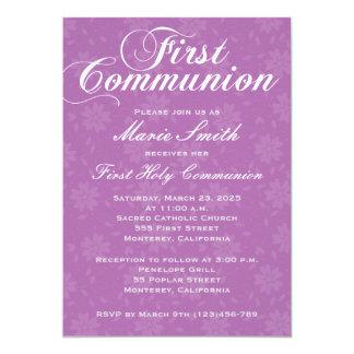 Primera invitación de Comunion del chica