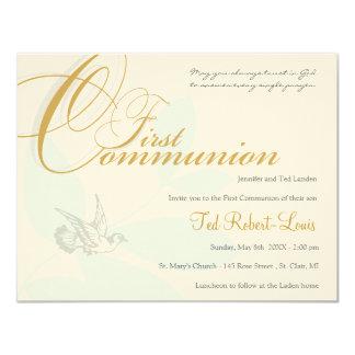 Primera invitación de la comunión invitación 10,8 x 13,9 cm
