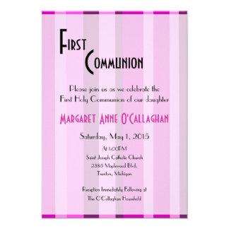 Primera invitación de la comunión - chica