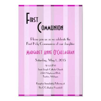Primera invitación de la comunión - chica invitación 8,9 x 12,7 cm