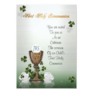 Primera invitación de la comunión con los tréboles