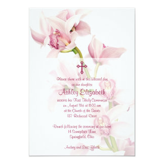 Primera invitación de la comunión de la orquídea