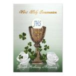 Primera invitación de la comunión del irlandés con invitación 12,7 x 17,8 cm