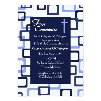 Primera invitación de la comunión - muchacho invitación 12,7 x 17,8 cm