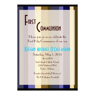 Primera invitación de la comunión - muchacho