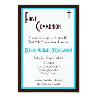 Primera invitación de la comunión - muchacho invitación 8,9 x 12,7 cm