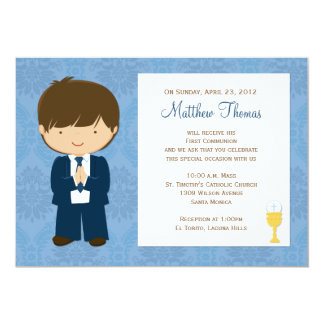 Primera invitación de la comunión para el muchacho