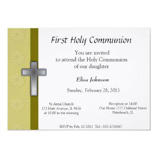 Primera invitación de la comunión santa invitación 12,7 x 17,8 cm