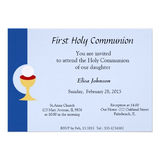 Primera invitación de la comunión santa