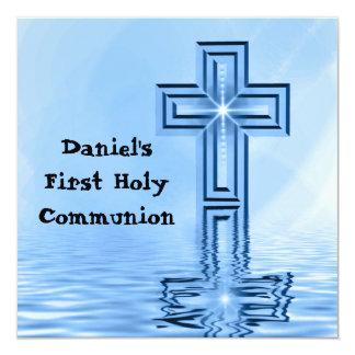 Primera invitación de la comunión santa invitación 13,3 cm x 13,3cm