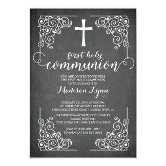 Primera invitación de la comunión santa de la invitación 12,7 x 17,8 cm