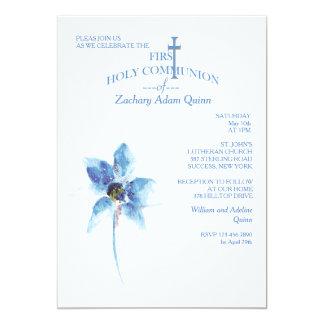 Primera invitación de la comunión santa de la flor invitación 12,7 x 17,8 cm