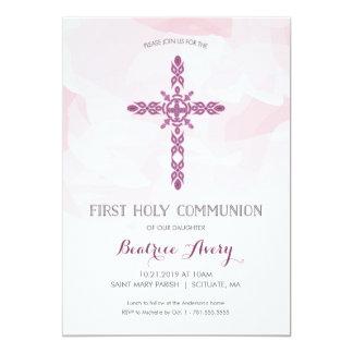 Primera invitación de la comunión santa del chica,
