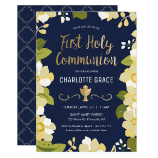 Primera invitación de la comunión santa, floral