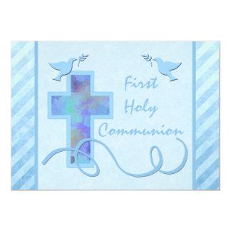 Primera invitación de la comunión santa para un invitación 12,7 x 17,8 cm
