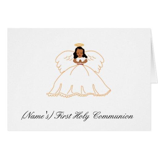 Primera invitación de la comunión santa felicitación