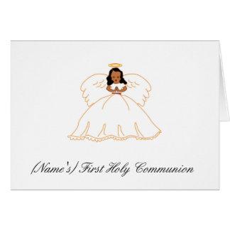 Primera invitación de la comunión santa tarjeta de felicitación