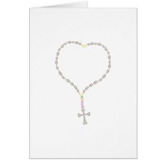 Primera invitación de la comunión santa tarjeta pequeña