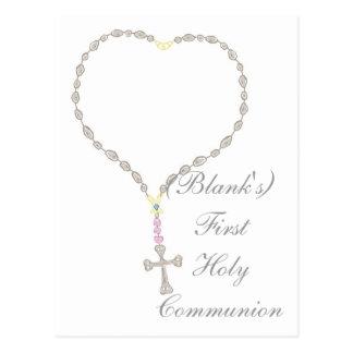 Primera invitación de la comunión santa postales