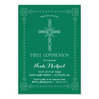 Primera invitación de la comunión, verde con la