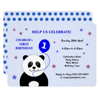 Primera invitación de la fiesta de cumpleaños de