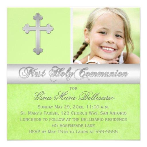 Primera invitación de la foto de la comunión santa