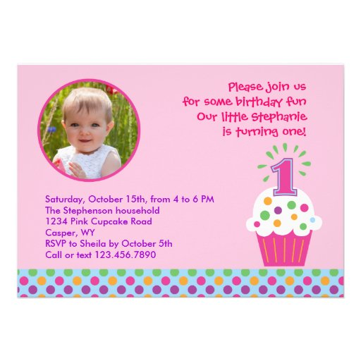 First Birthday Invitation Card Matter as nice invitation example