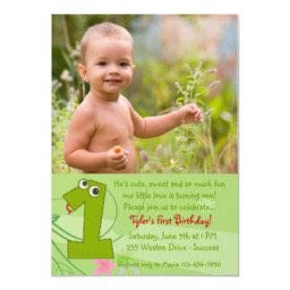 Primera invitación de la foto del cumpleaños
