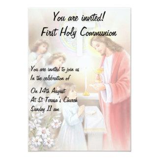 Primera invitación del chica de la comunión santa