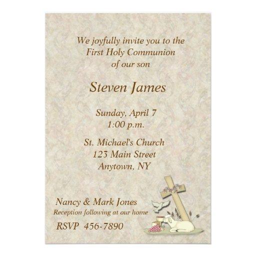 Primera invitación del cordero de la comunión