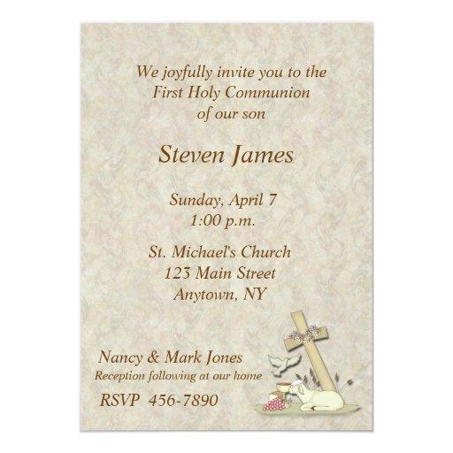 Primera invitación del cordero de la comunión invitación 12,7 x 17,8 cm