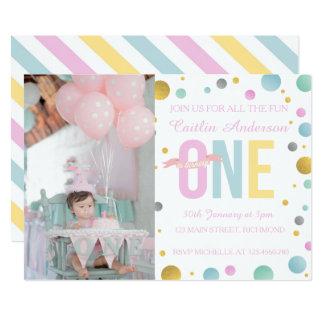 Primera invitación del cumpleaños de los chicas -