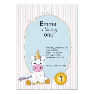 Primera invitación del cumpleaños del unicornio