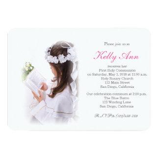 Primera invitación elegante de la comunión santa