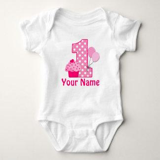 Primera magdalena del rosa del chica del body para bebé