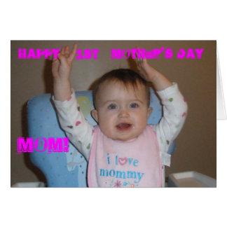 ¡Primera MAMÁ feliz del día de madres! Tarjeta De Felicitación