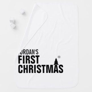 Primera manta del bebé del navidad del bebé