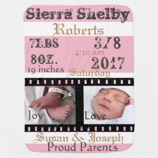 Primera manta personalizada del bebé de la mantitas para bebé