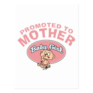Primera niña de la nueva madre divertida postales