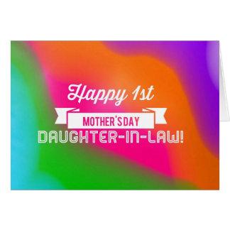 ¡Primera nuera feliz del día de madre! Tarjeta De Felicitación