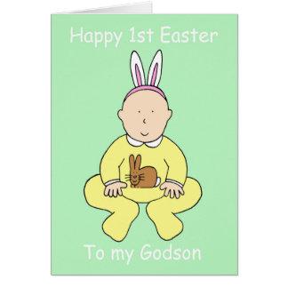 Primera Pascua feliz a mi ahijado Tarjeta De Felicitación