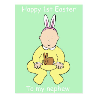 Primera Pascua feliz a mi sobrino Postal