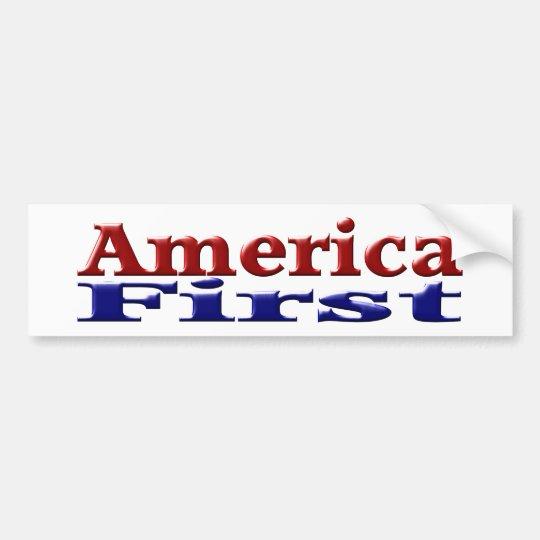 Primera pegatina para el parachoques de América Pegatina Para Coche