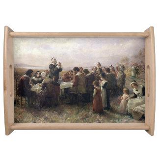 Primera pintura del vintage de la acción de bandejas