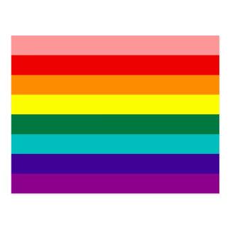 Primera postal de la bandera del orgullo gay del a